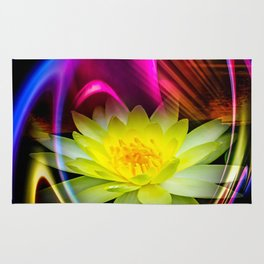 Flower Magic -Water lily Rug