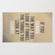 Change the way you look at things Rug