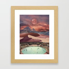 Pool in the magical desert Framed Art Print