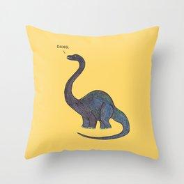 Dang Dino Throw Pillow