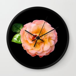 Orange ,Rosa Rose Wall Clock