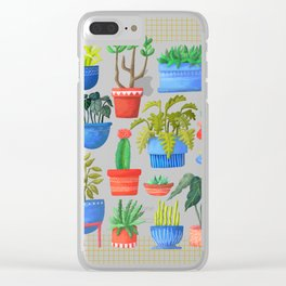 House Plants Clear iPhone Case