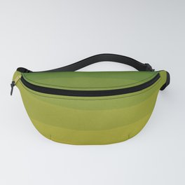Shades of Grass - Line Gradient Pattern between Lime Green and Bright Yellow Fanny Pack