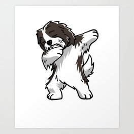 Funny Dabbing Havanese Dog Dab Dance Art Print