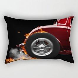 Hotrod Burnout Rectangular Pillow