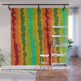 Flame Red Wall Mural
