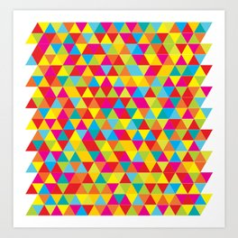 Summer Triangle Pattern Art Print