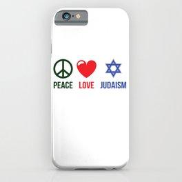 Peace Love Judaism iPhone Case