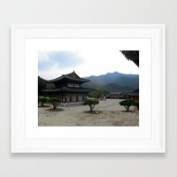 korea Framed Art Prints featuring Korea Scene by Sarah Berry