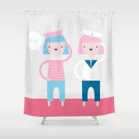 sailor Shower Curtains featuring Sailor by Annika Bäckström