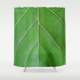 Leaf Pattern Shower Curtain