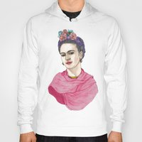 frida kahlo Hoodies featuring Frida Kahlo by Barruf