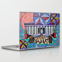 lincoln Laptop & iPad Skins featuring Lincoln Memorial by Art By Carob