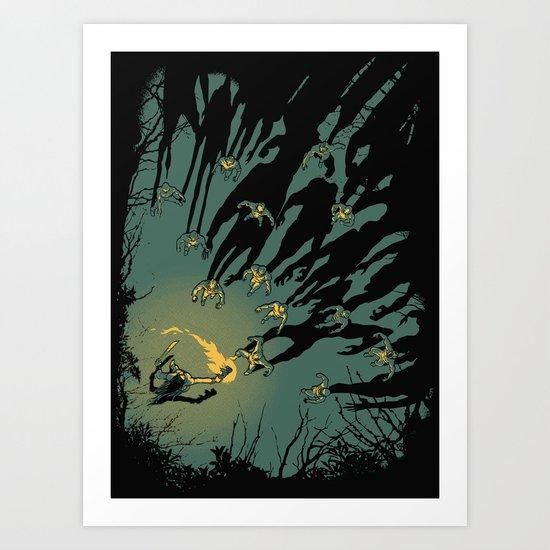 Zombie Shadows Art Print