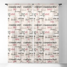 English Typography from Hafez Persian Poet Sheer Curtain