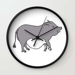 Cute Potbelly Pig Wall Clock