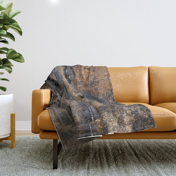 Middle Finger granite quarry reflection Throw Blanket