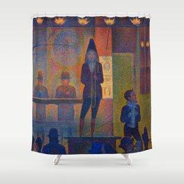 """Georges Seurat """"Circus Sideshow (Parade de cirque)"""" Shower Curtain"""