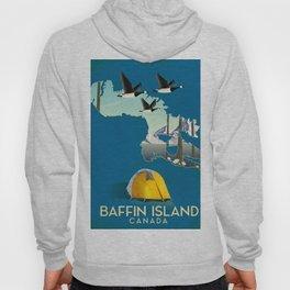 Baffin island Canada travel poster, Hoody