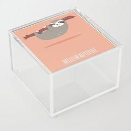 Sloth card - hello beautiful Acrylic Box