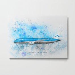 Klm Boeing 787 Dreamliner Metal Print