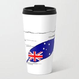 Australian Flag - Narwhal Travel Mug