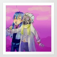dmmd Art Prints featuring Watch out! Clear and Aoba by Mottinthepot