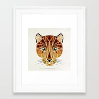 leopard Framed Art Prints featuring leopard by Manoou