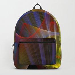 Inner light, spiritual fractal abstract Backpack