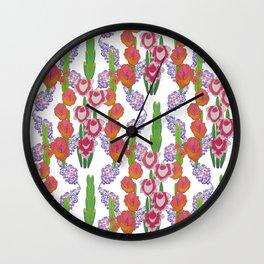 Gladioli & Buddleja Wall Clock