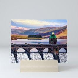 Medieval Dam of the Elan Valley of Wales Mini Art Print