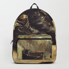 Vincent van Gogh - Three Pairs Of Shoes - Digital Remastered Edition Backpack