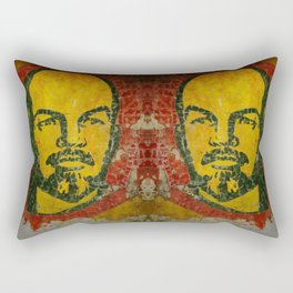 Goodbye Lenin fresco in the ex Soviet military base in Latvia  Rectangular Pillow