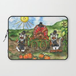 Cats and Friend Thanksgiving Parade Laptop Sleeve