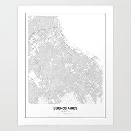 Buenos Aires, Argentina Minimalist Map Art Print