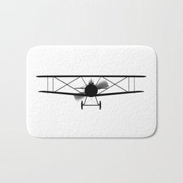 Biplane Silhouette Bath Mat