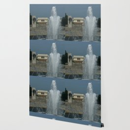 Memorial Fountain  And Lincoln Memorial Wallpaper