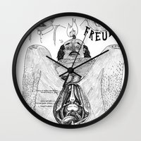 freud Wall Clocks featuring Freud. by Philip Dearest