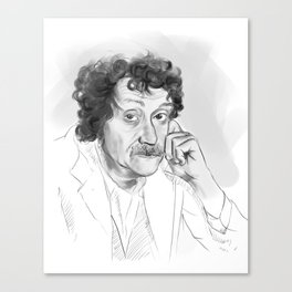 Kurt Vonnegut portrait Canvas Print