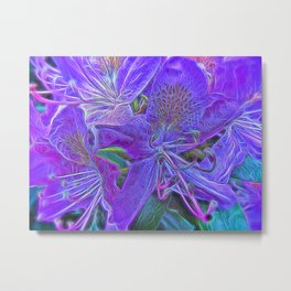 Rhododendron Purple Metal Print