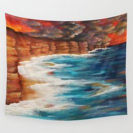 Moroccan Sea Spray Wall Tapestry