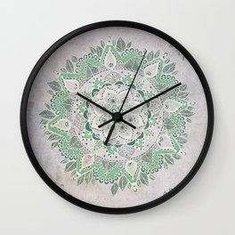 Spring Rain Mandala Wall Clock