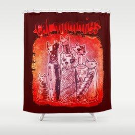 cat mummies Shower Curtain