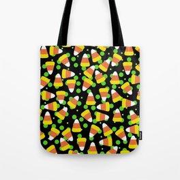 Candy Corn Jumble (black background) Tote Bag