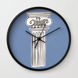 Greek ionic column Wall Clock
