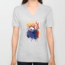 Red Panda Portrait Unisex V-Neck