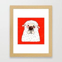Chocolate Lamb Framed Art Print