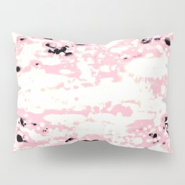 Lava Pattern Abstract Rosé and White Pillow Sham