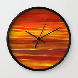Sunset stratum Wall Clock
