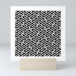 Isometric Sayagata Mini Art Print